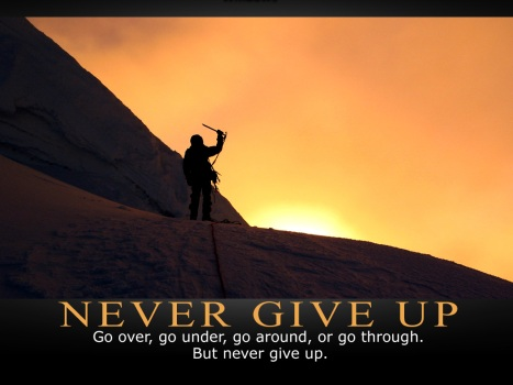 Never Give Up ~ Dig In !!!