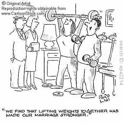 Lift weights while enjoying health