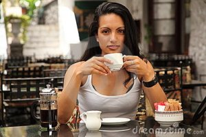 Enjoying that healthy morning coffee