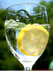 Refreshing Lemon water ~ Easy Health in a Glass !