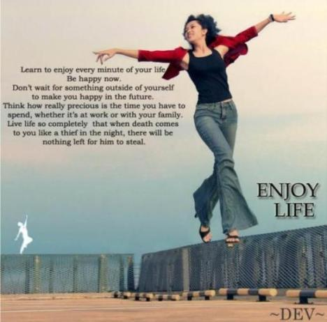 Enjoy Less to Enjoy More