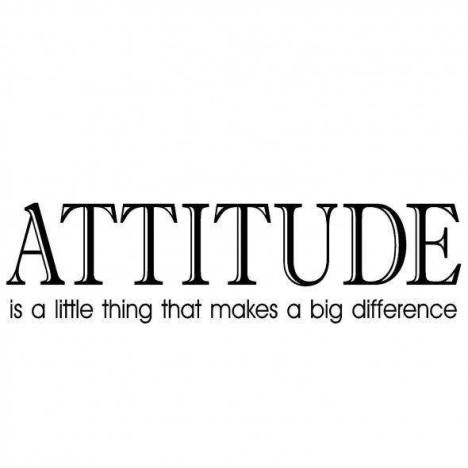Attitude makes the Difference